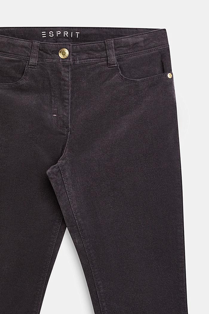 Stretch cotton corduroy trousers, LCLIGHT GUN META, detail image number 2