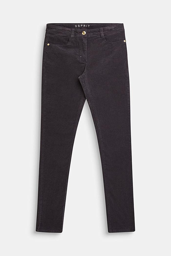 Stretch cotton corduroy trousers, LCLIGHT GUN META, detail image number 0