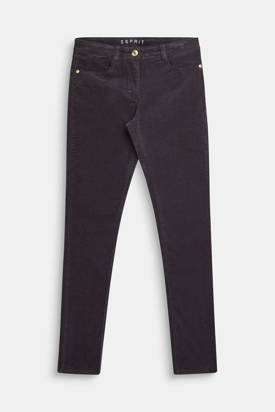 Stretch cotton corduroy trousers, LCLIGHT GUN META, detail image number 0