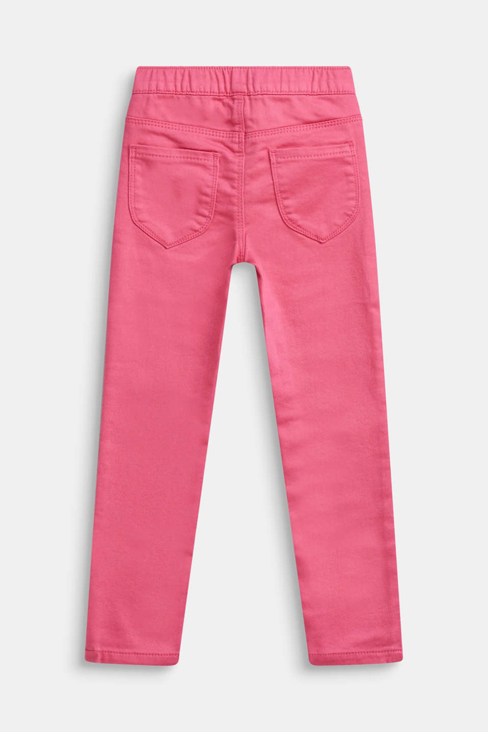 Treggings made of soft woven fabric, DARK PINK, detail image number 1