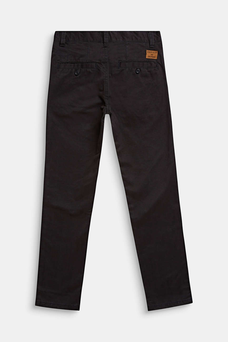 Chinos with adjustable waistband, 100% cotton, LCANTHRACITE, detail image number 1