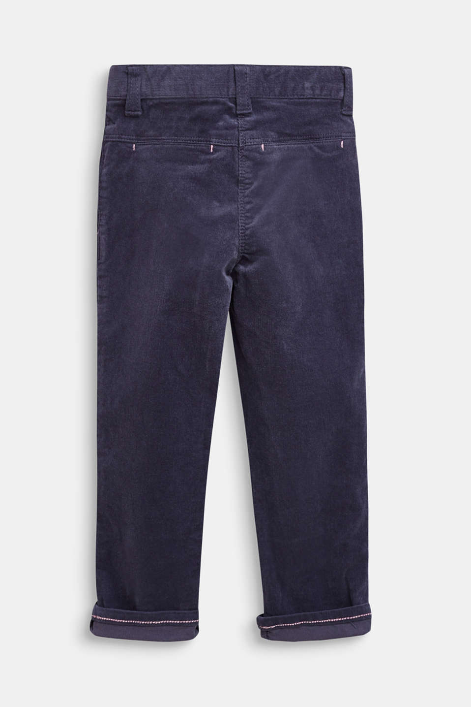 Stretch cotton corduroy trousers, MIDNIGHT BLUE, detail image number 1