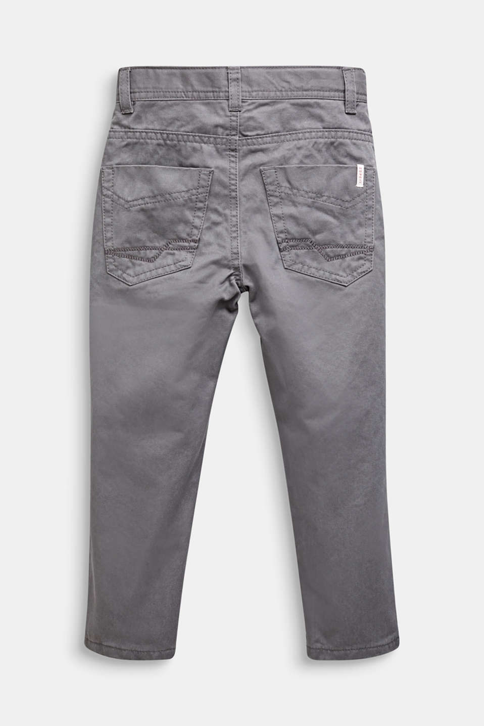 Twill trousers with jersey lining, GREY STONE, detail image number 2