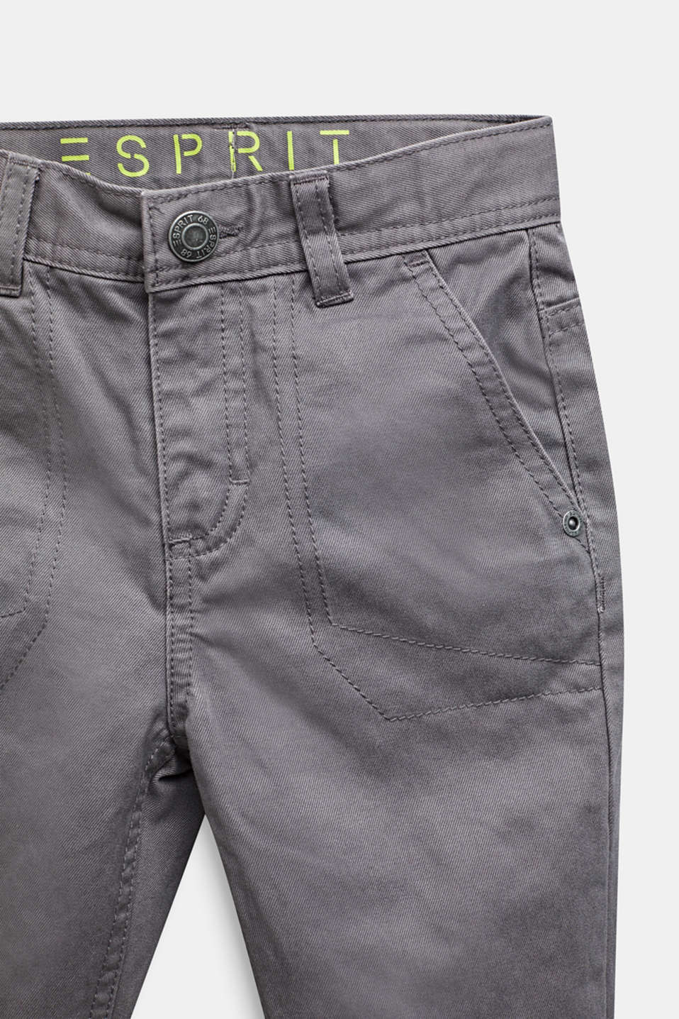 Twill trousers with jersey lining, GREY STONE, detail image number 1