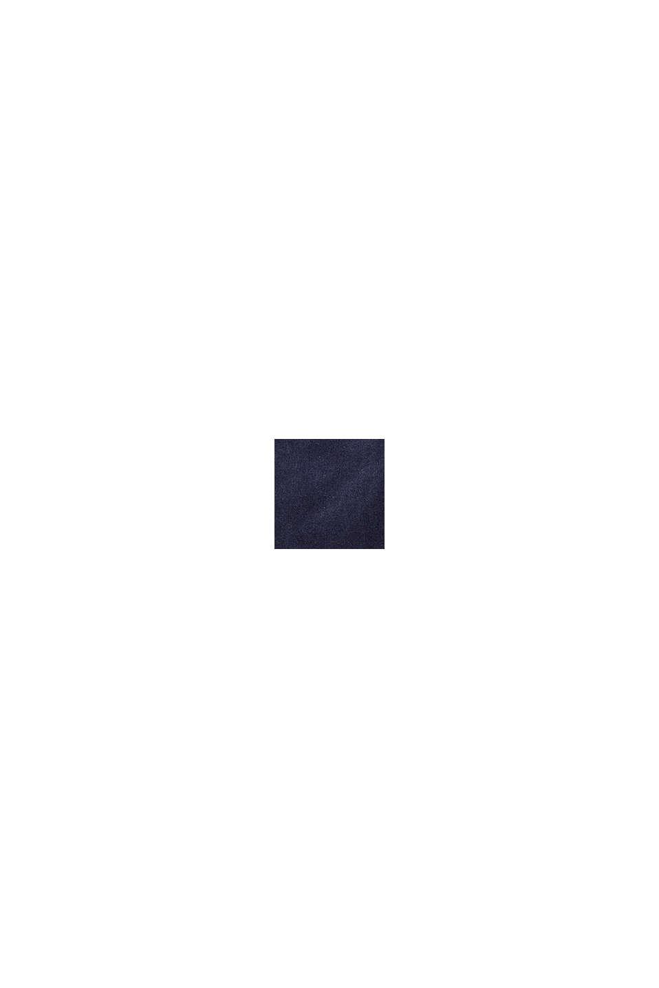 Utsvängd manchesterbyxa i bomull med stretch, MIDNIGHT BLUE, swatch