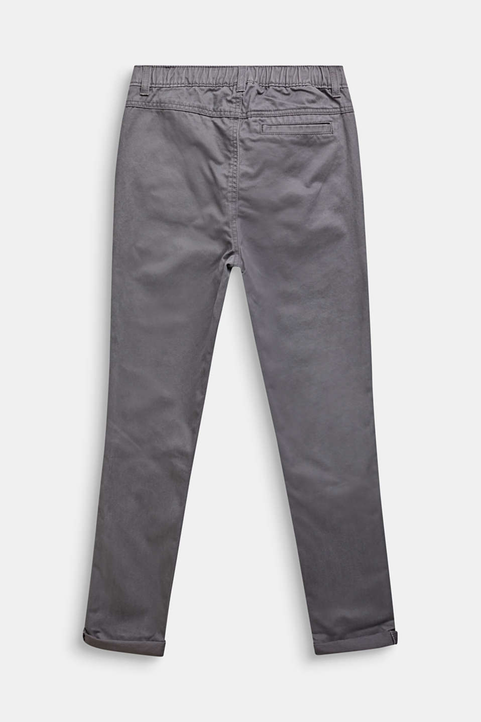 Trousers with a drawstring waistband, 100% cotton, LCGREY STONE, detail image number 1