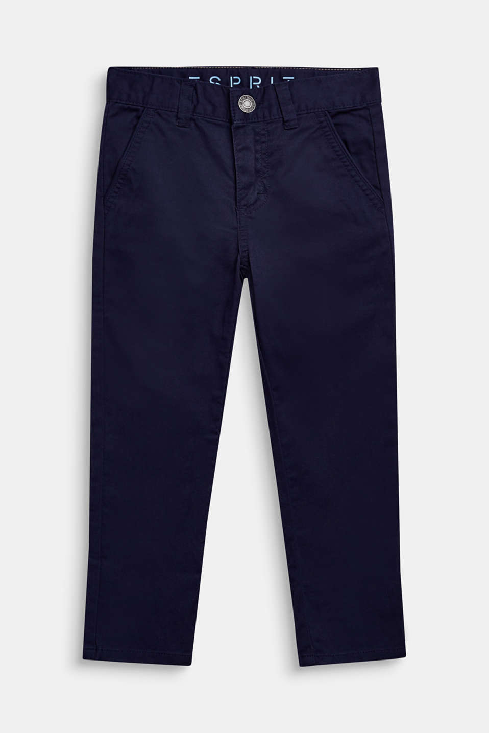 Stretch chinos made of twill, ULTRAMARINE, detail image number 0