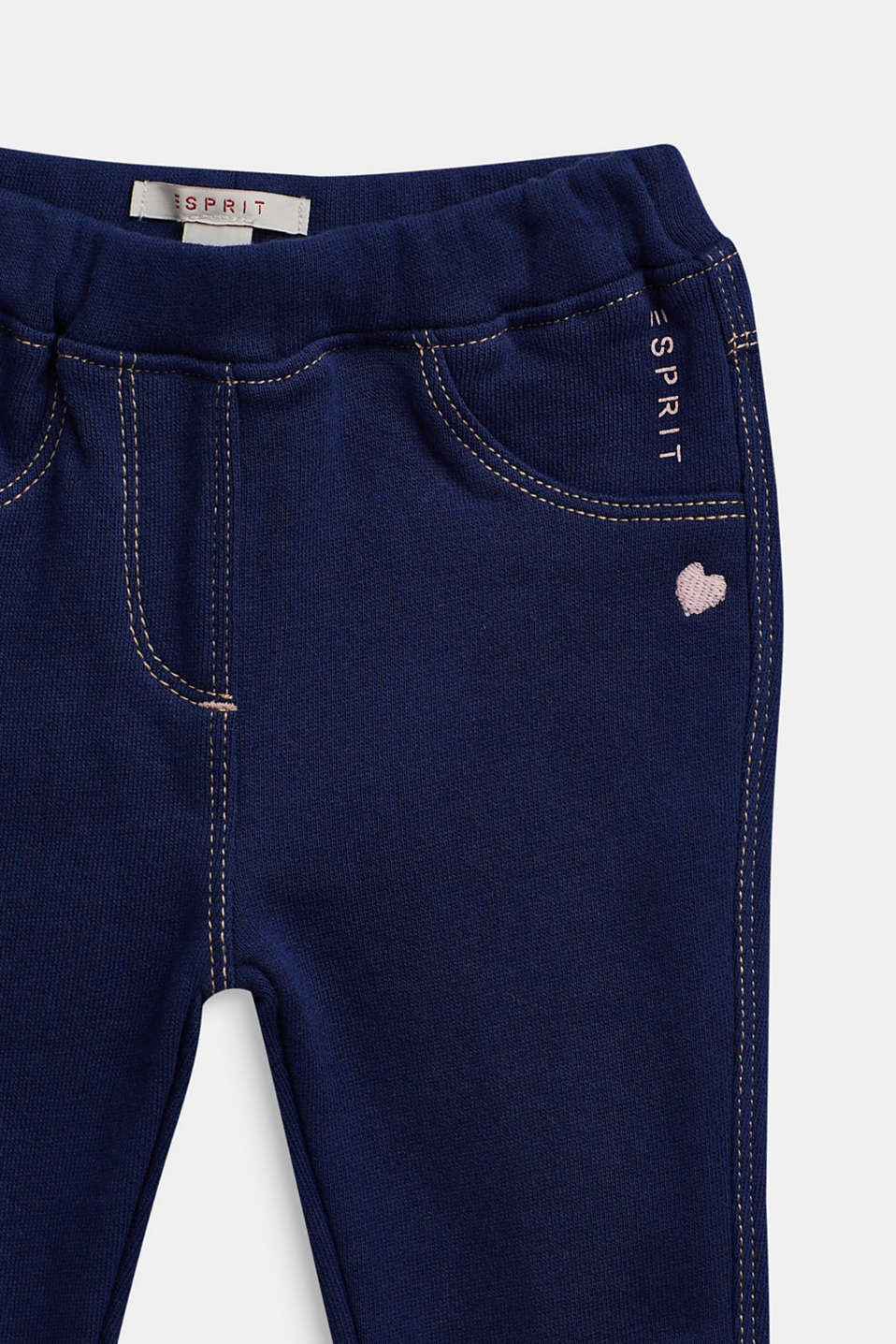 Tracksuit bottoms in 100% cotton, LCMARINE BLUE, detail image number 2