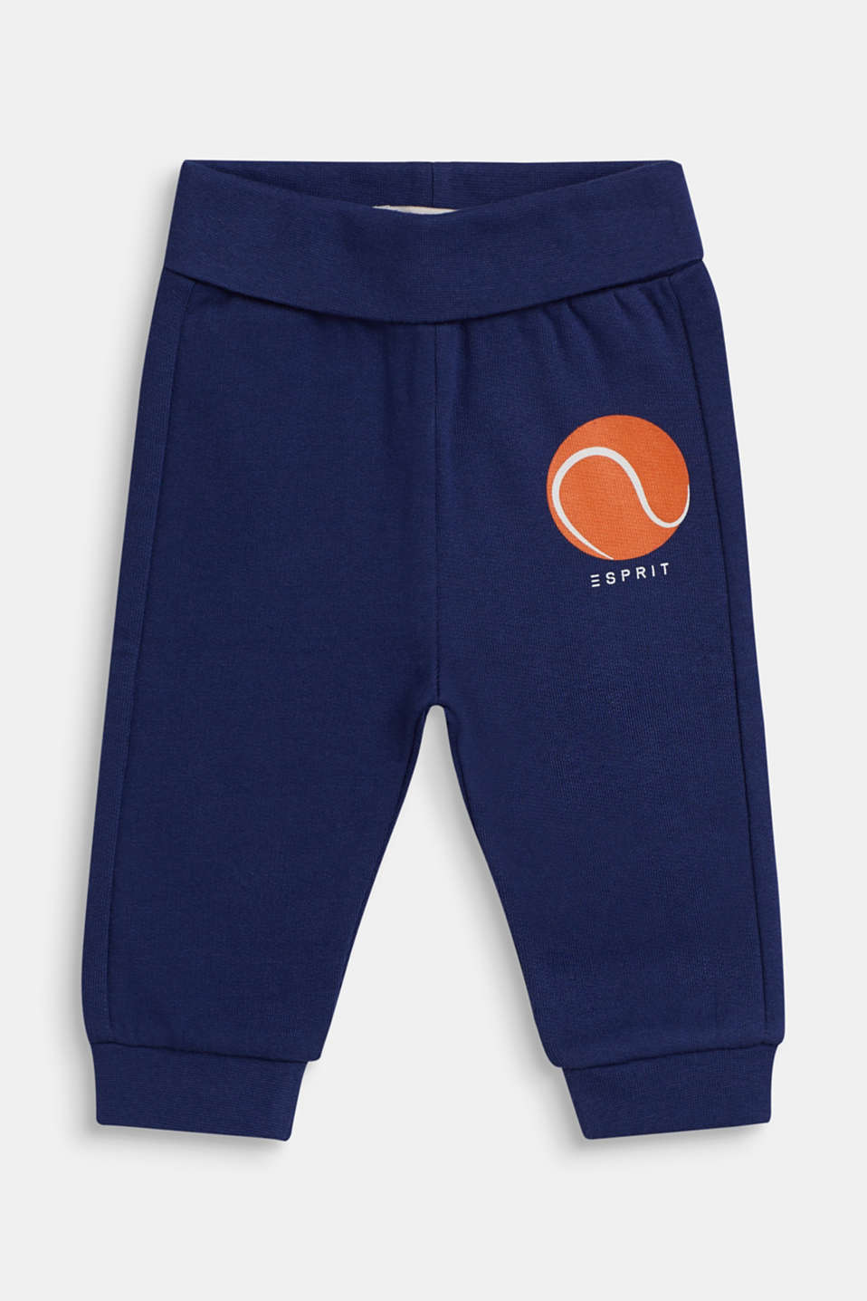 Tracksuit bottoms in 100% cotton, LCMARINE BLUE, detail image number 0