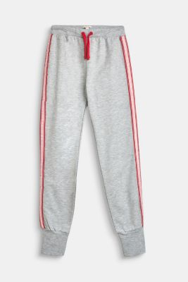 Melange tracksuit bottoms with logo tape, LCHEATHER SILVER, detail