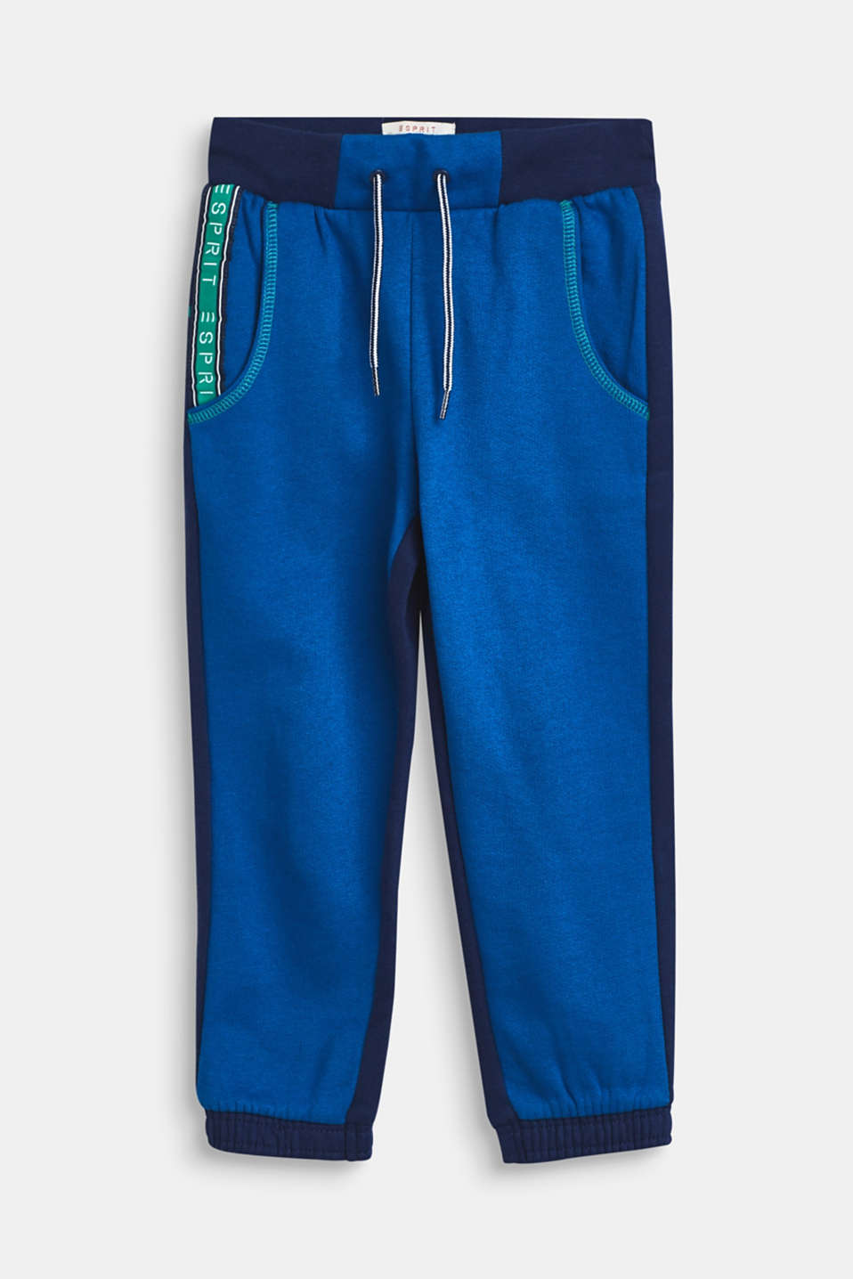 Esprit - Colour block tracksuit bottoms, 100% cotton