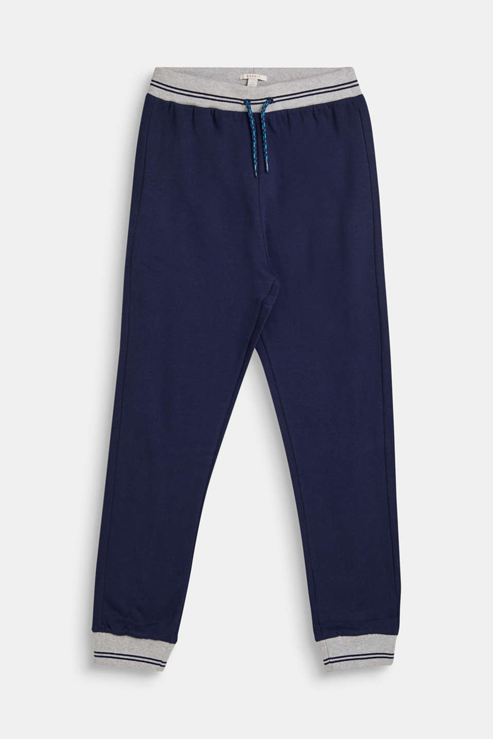 Esprit - Tracksuit bottoms with ribbed cuffs, 100% cotton