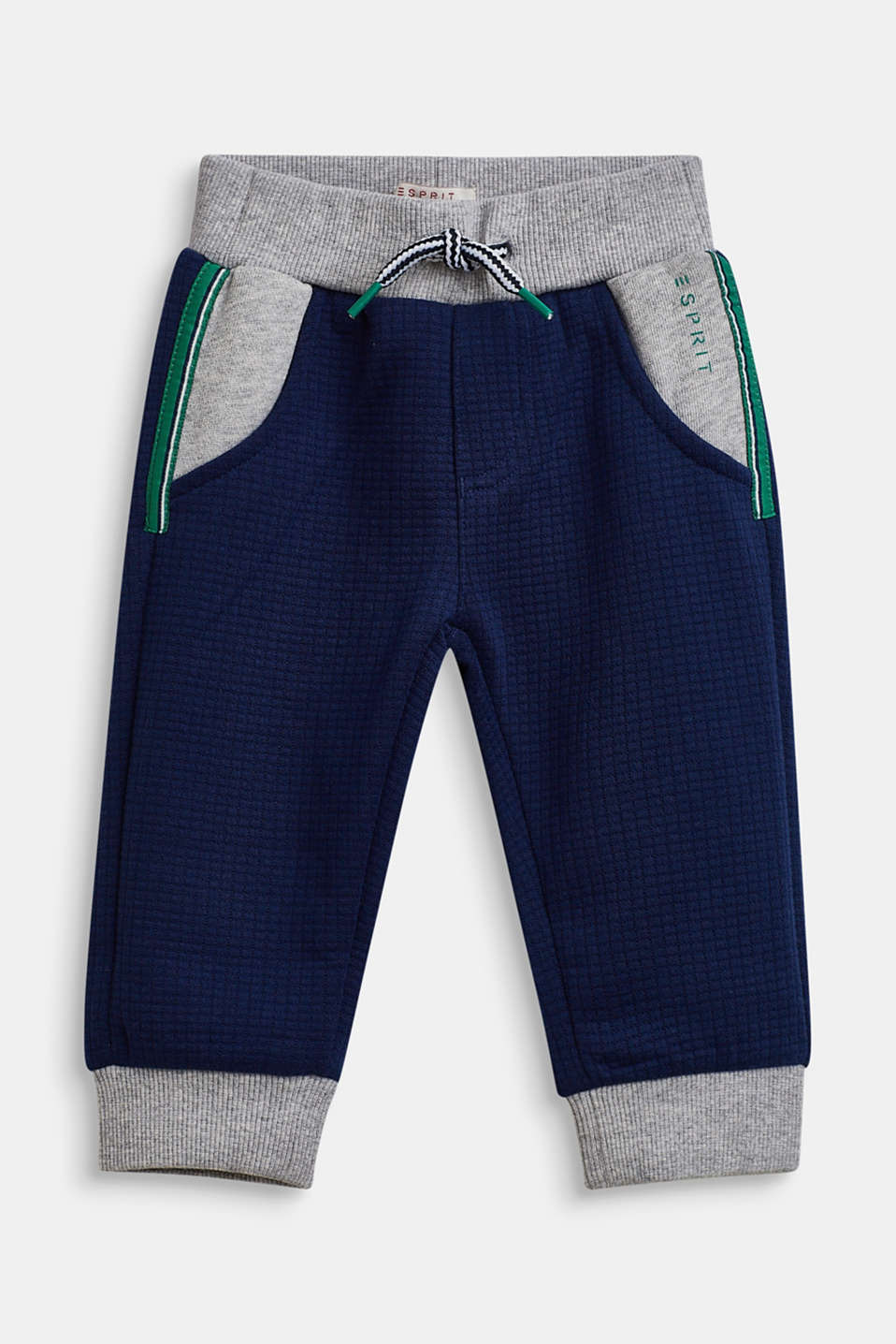Textured tracksuit bottoms, LCMARINE BLUE, detail image number 0