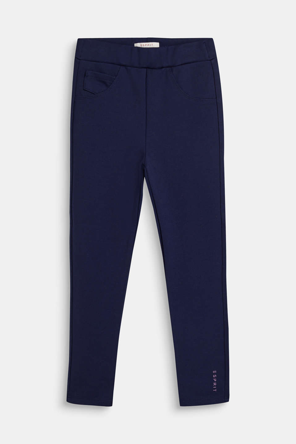 Esprit - Compact stretch jersey trousers