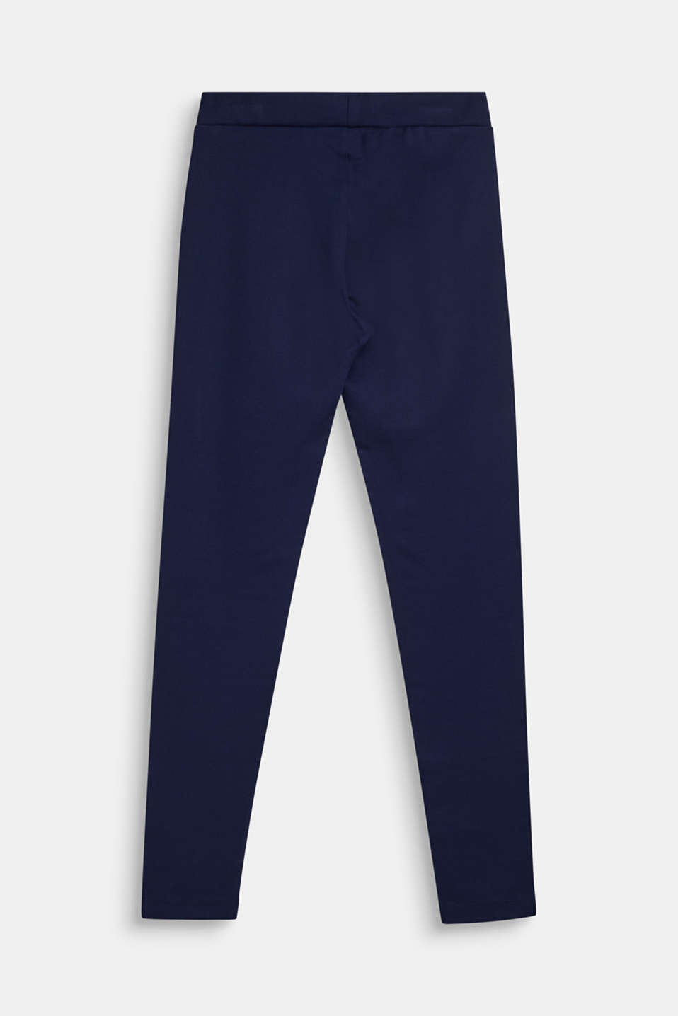 Compact stretch jersey trousers, LCNAVY, detail image number 1