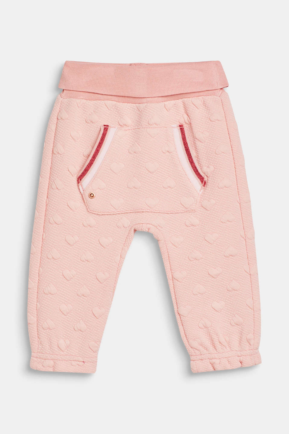 Esprit - Sweatshirt fabric trousers with a heart-shaped texture