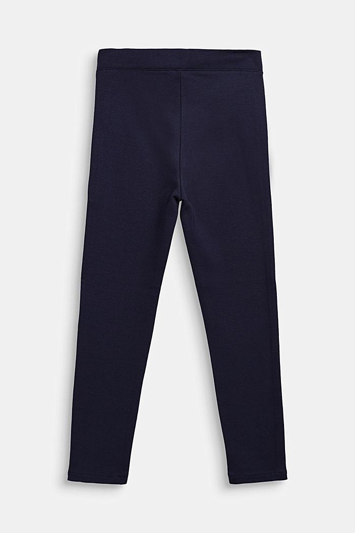 Jersey broek met metallic paspels, NAVY BLUE, detail image number 1
