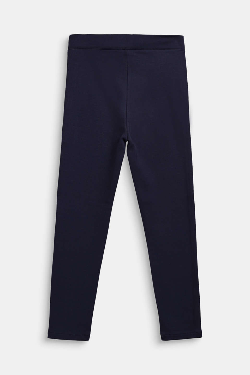 Jersey trousers with metallic piping, NAVY BLUE, detail image number 1