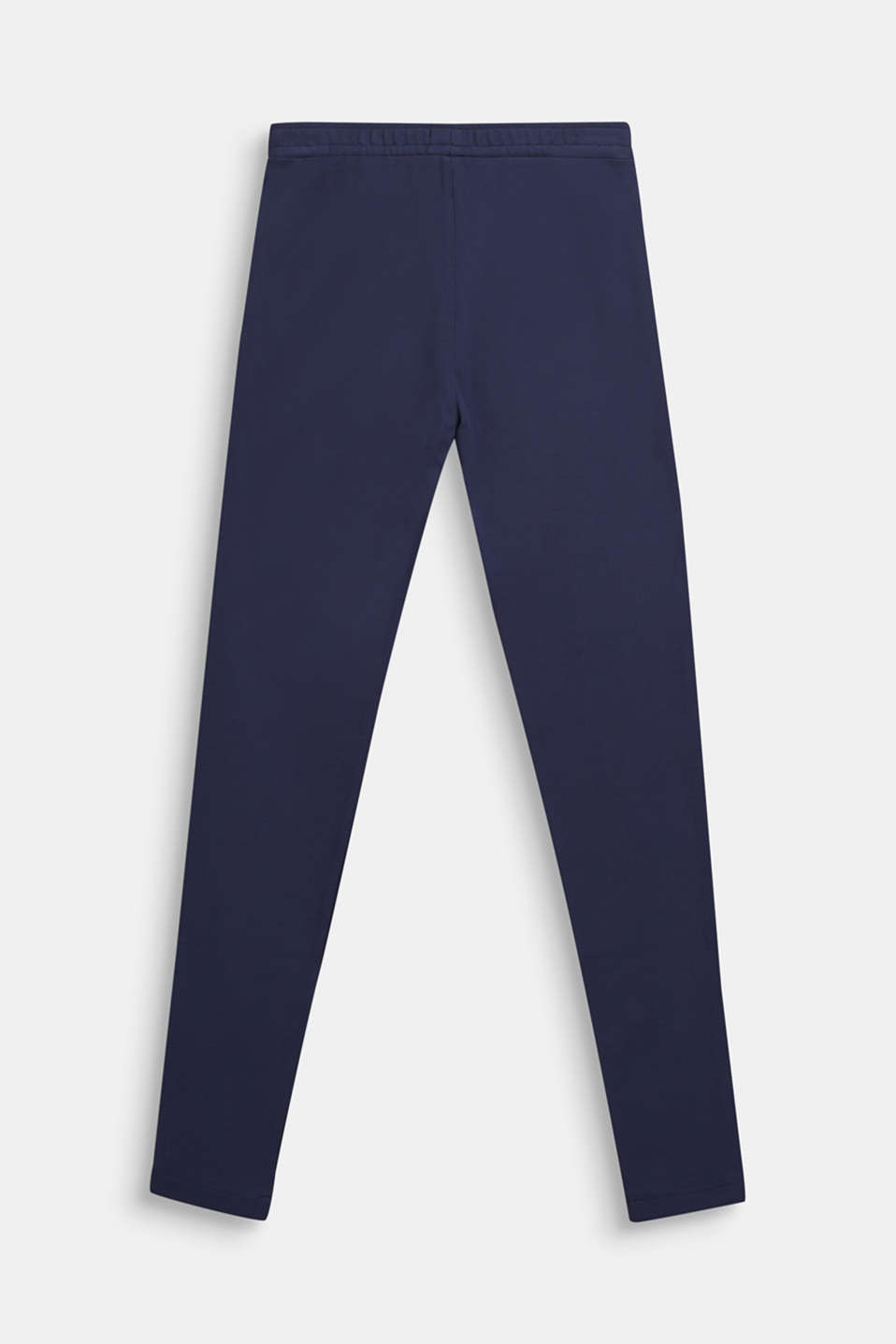 Compact jersey trousers with shiny stripes, LCNAVY BLUE, detail image number 1