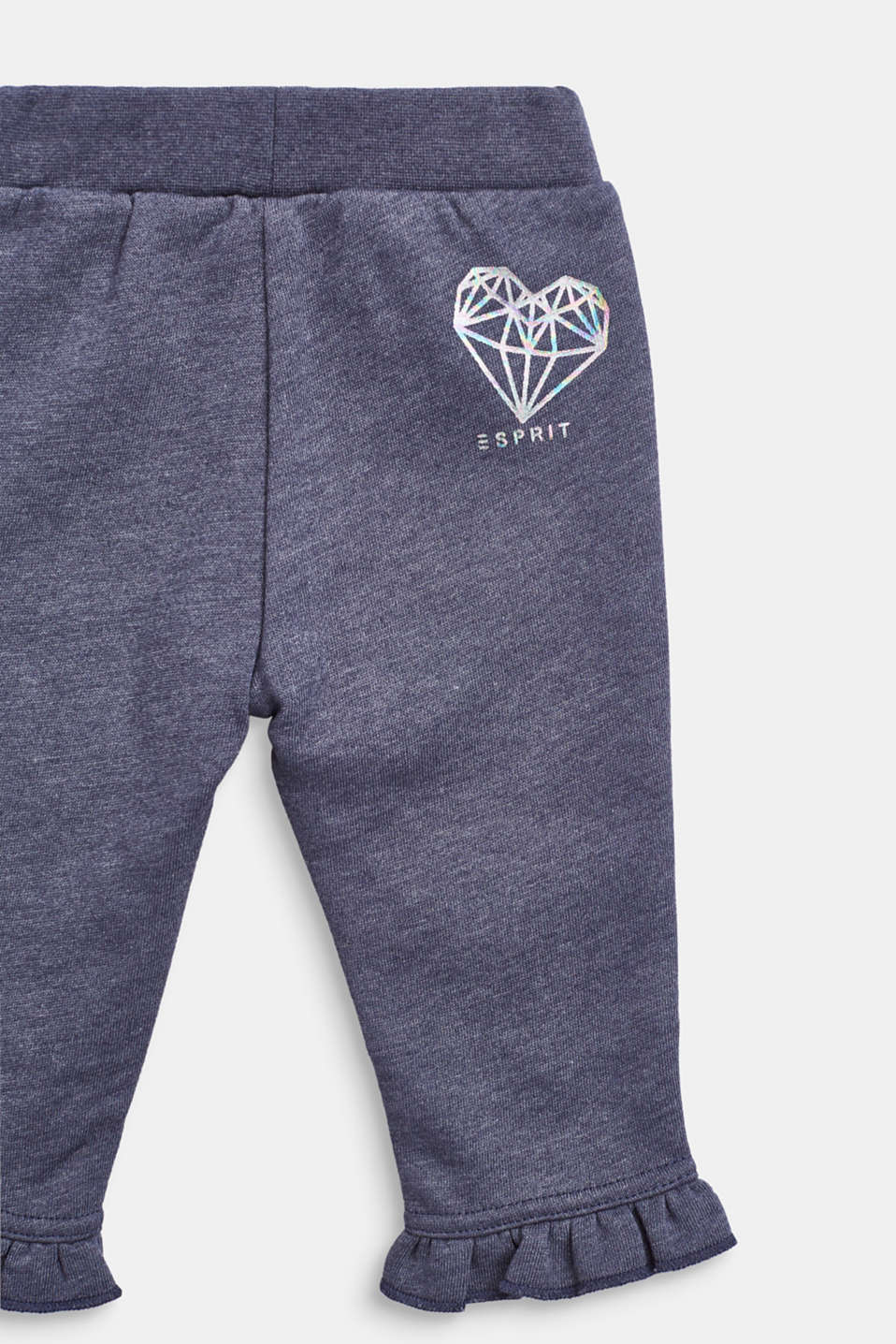 Tracksuit bottoms with a shiny print and frills, LCMIDNIGHT BLUE, detail image number 2