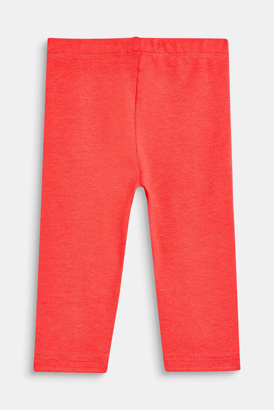 Basic stretch cotton leggings, LCCORAL, detail image number 1