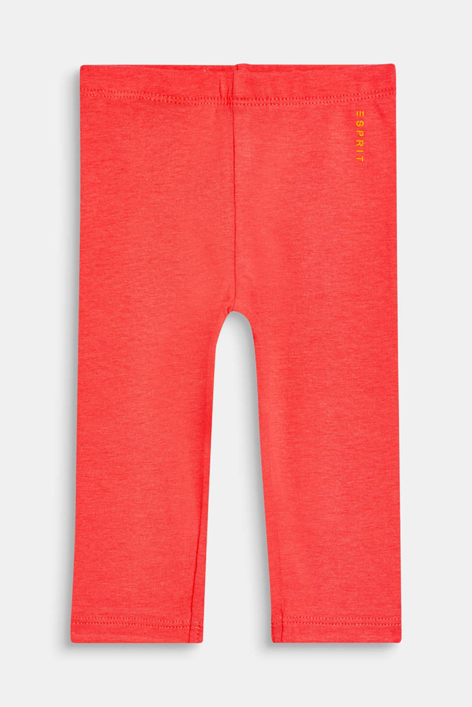 Basic stretch cotton leggings, LCCORAL, detail image number 0