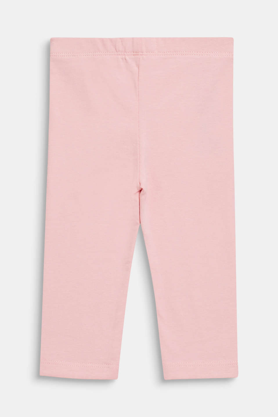Basic stretch cotton leggings, LCLIGHT PINK, detail image number 1
