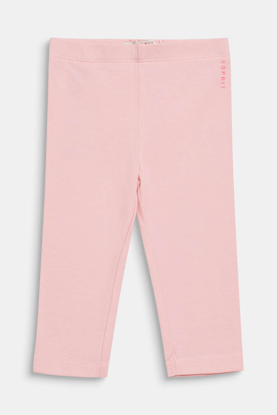 Basic stretch cotton leggings, LCLIGHT PINK, detail image number 0