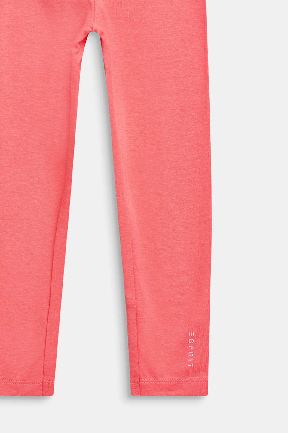 Basic stretch cotton leggings, CORAL, detail image number 2