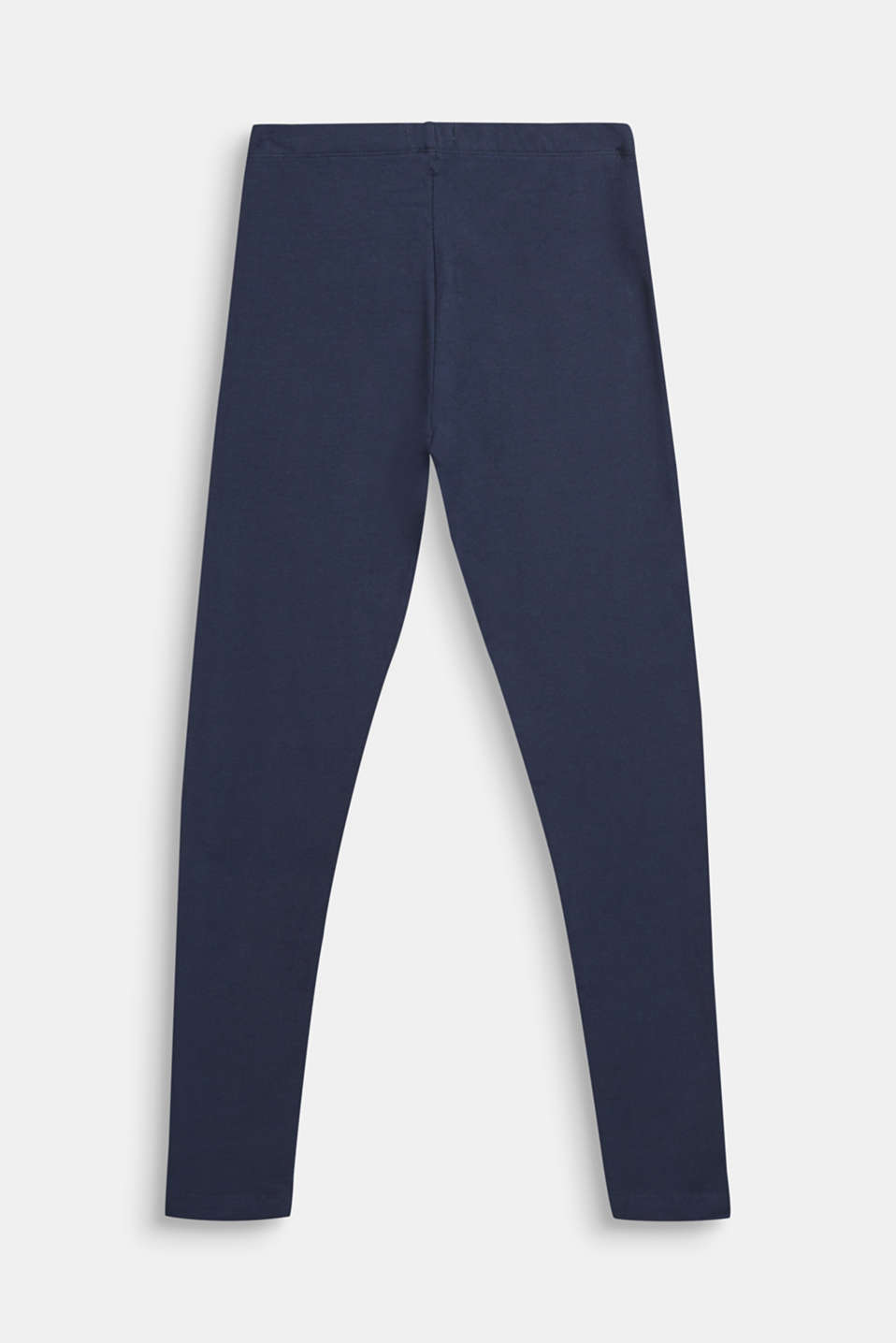 Opaque leggings in stretch cotton, LCNAVY BLUE, detail image number 1