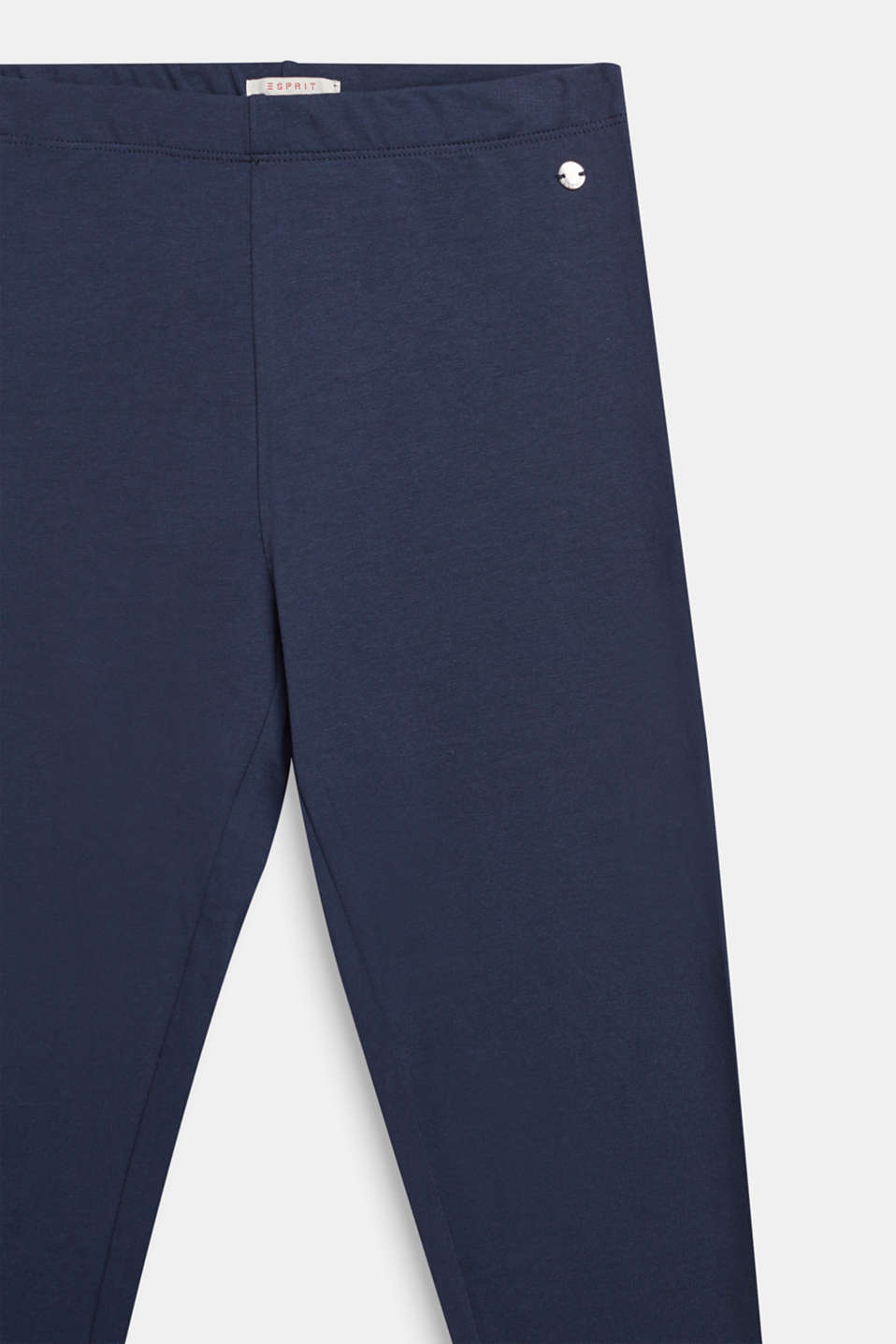 Opaque leggings in stretch cotton, LCNAVY BLUE, detail image number 2