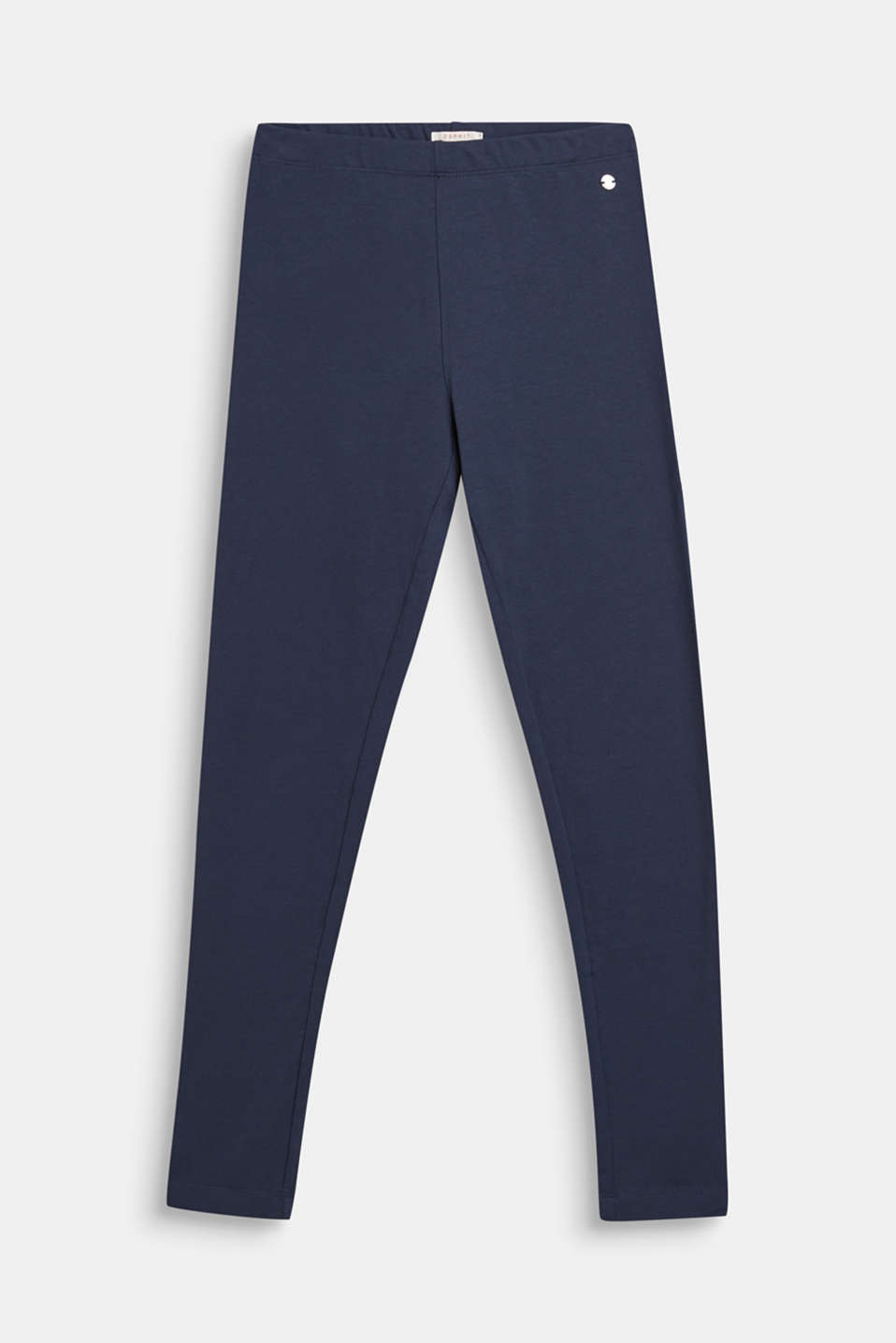 Opaque leggings in stretch cotton, LCNAVY BLUE, detail image number 0