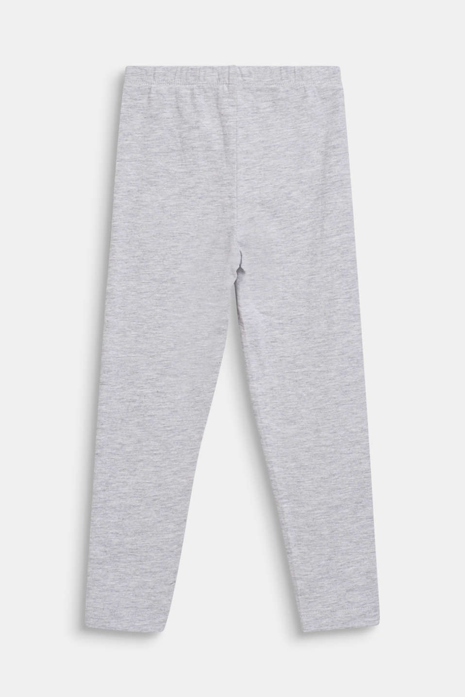 Opaque stretch jersey leggings, HEATHER SILVER, detail image number 1
