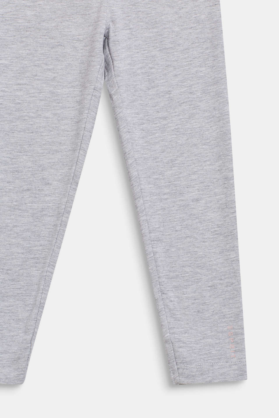 Opaque stretch jersey leggings, HEATHER SILVER, detail image number 2