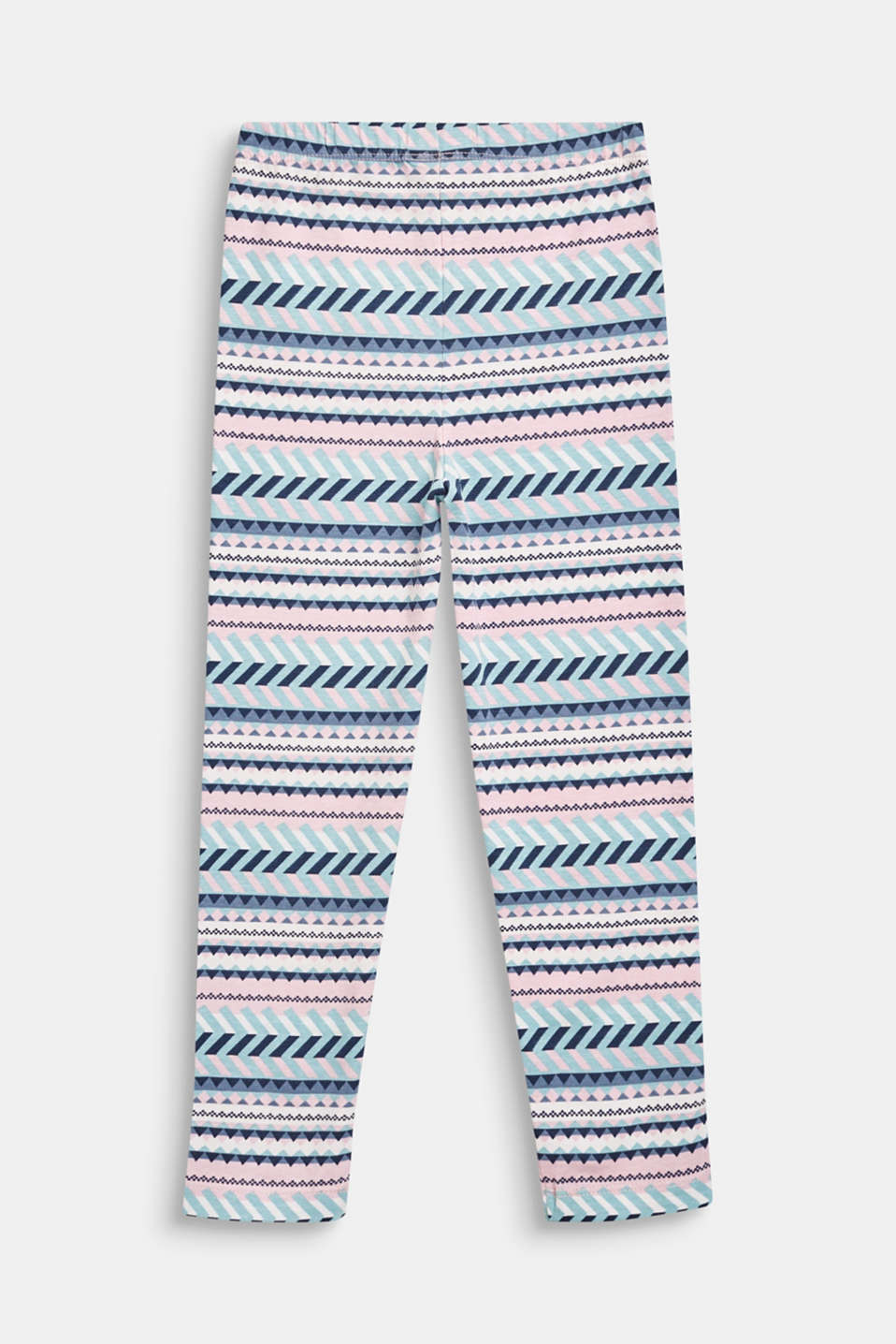 100% cotton tribal leggings, OFF WHITE, detail image number 1