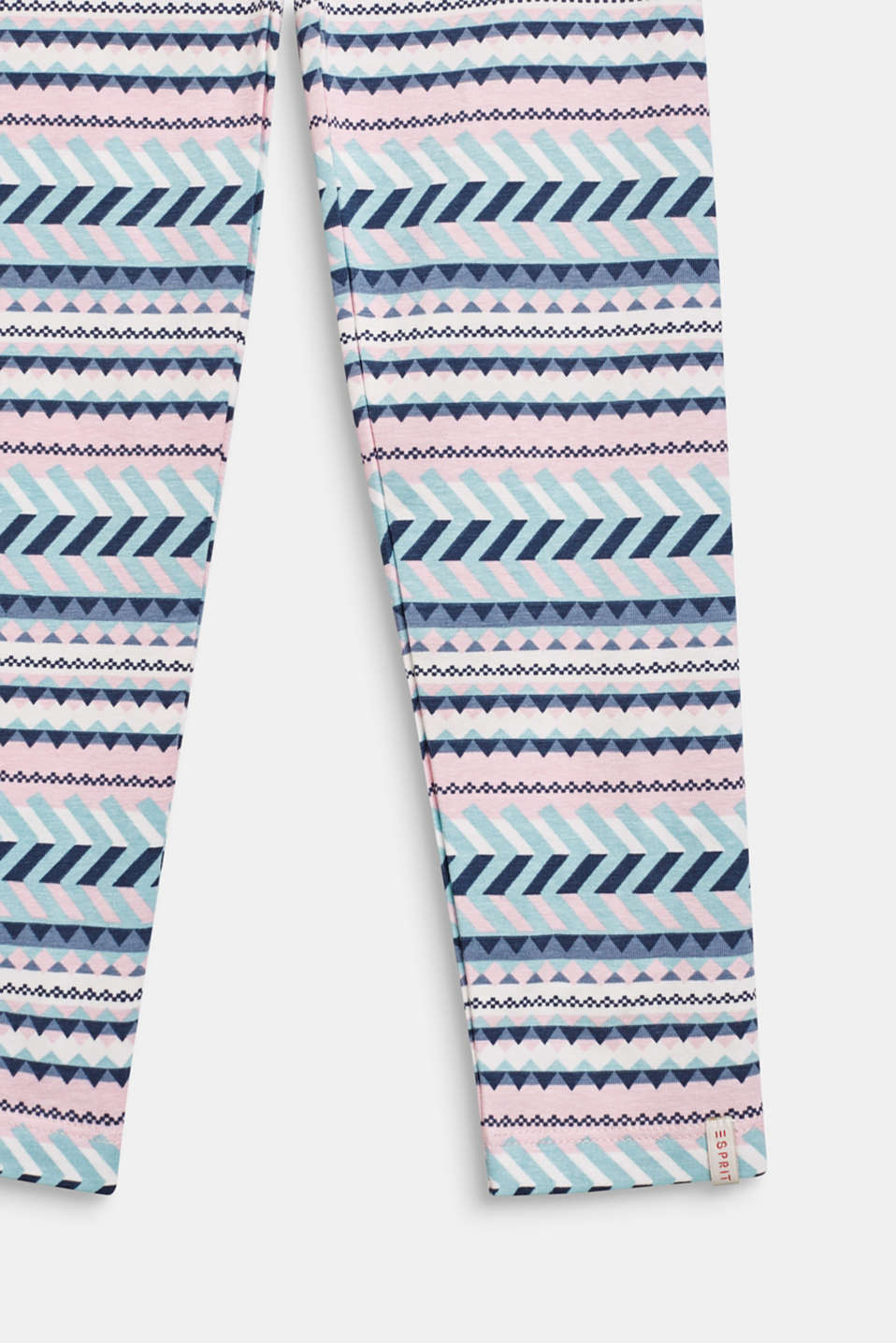 100% cotton tribal leggings, OFF WHITE, detail image number 2