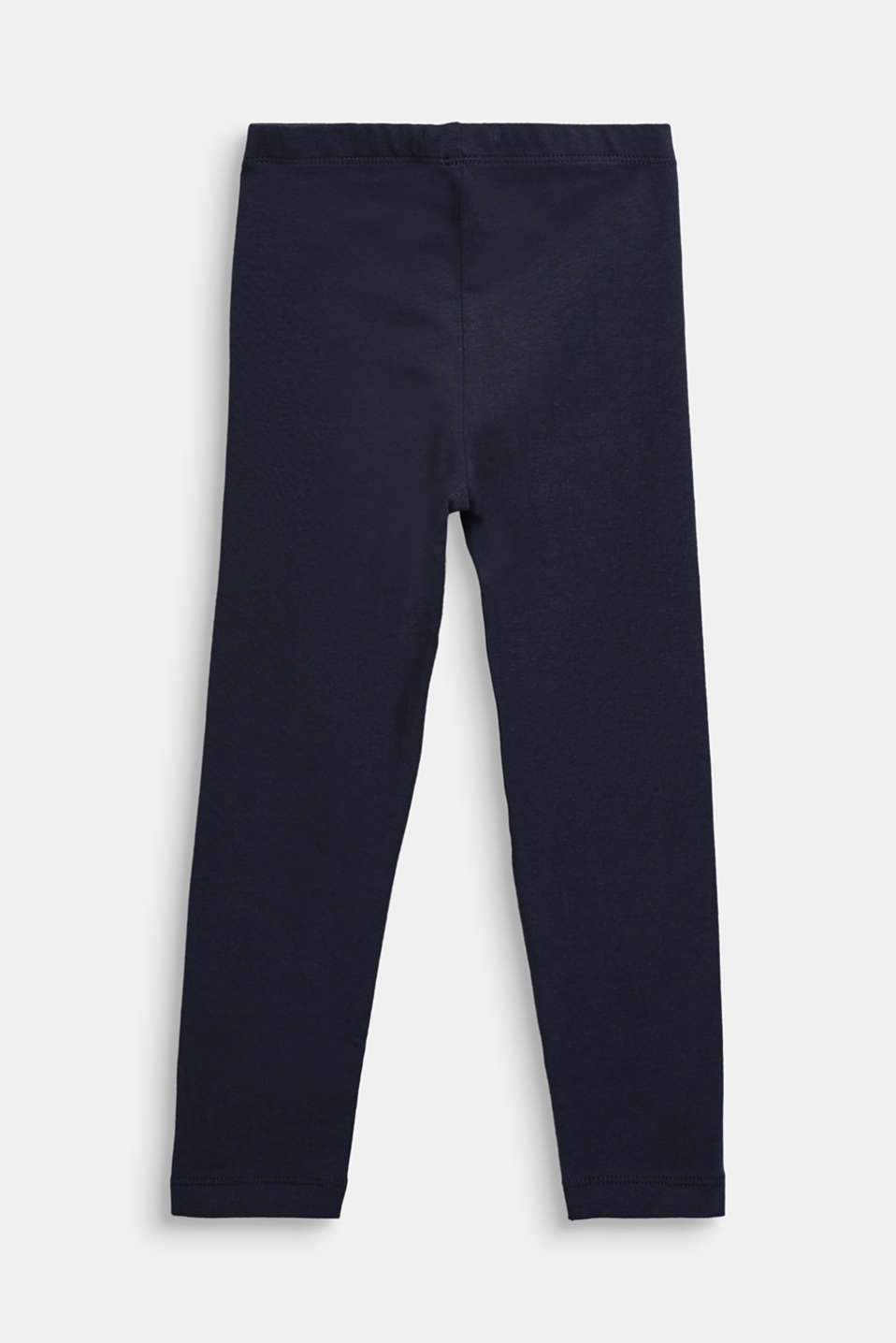 Stretch cotton leggings, NAVY BLUE, detail image number 1