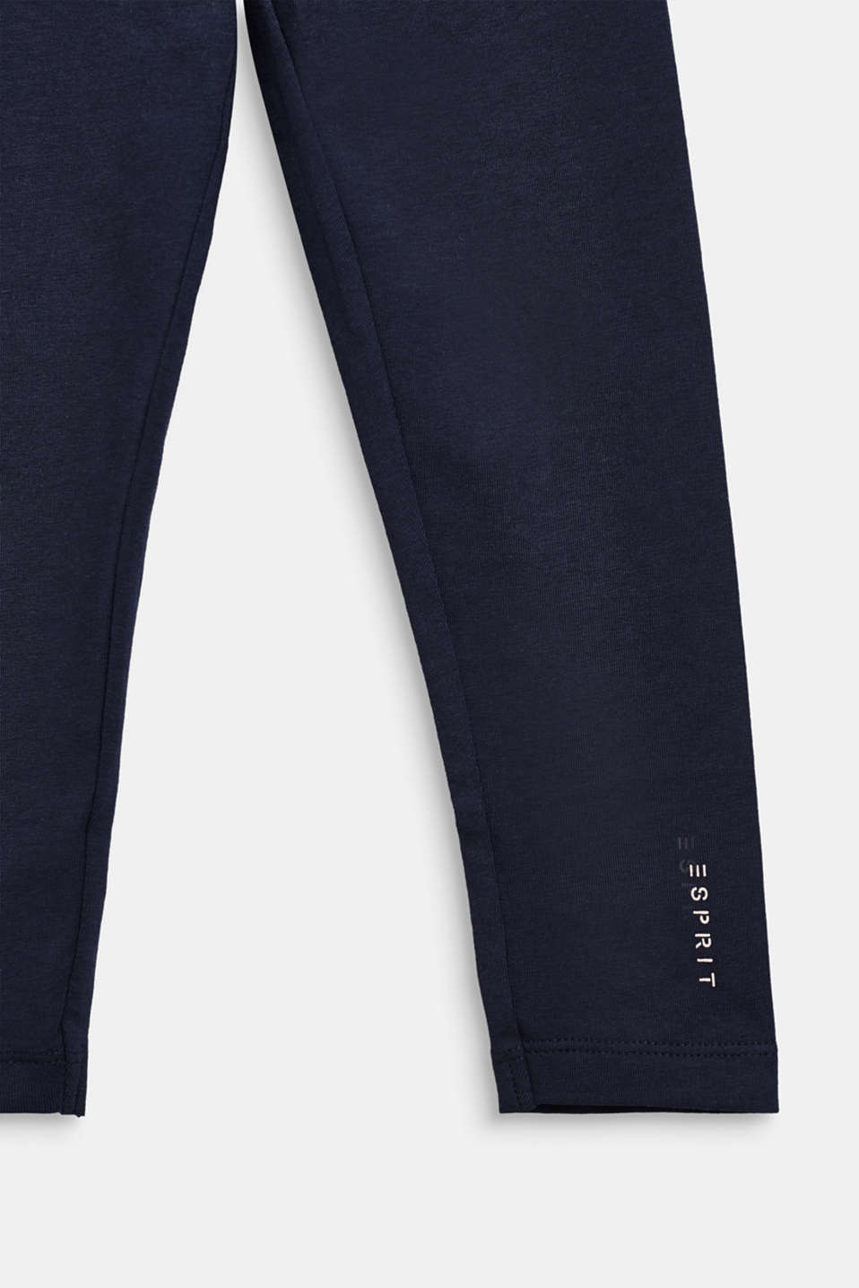 Stretch cotton leggings, NAVY BLUE, detail image number 2