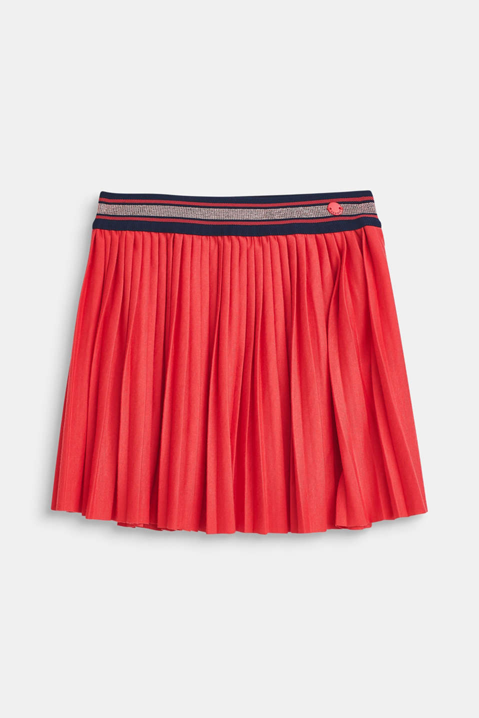 Esprit - Pleated skirt made of jersey with an elasticated waistband