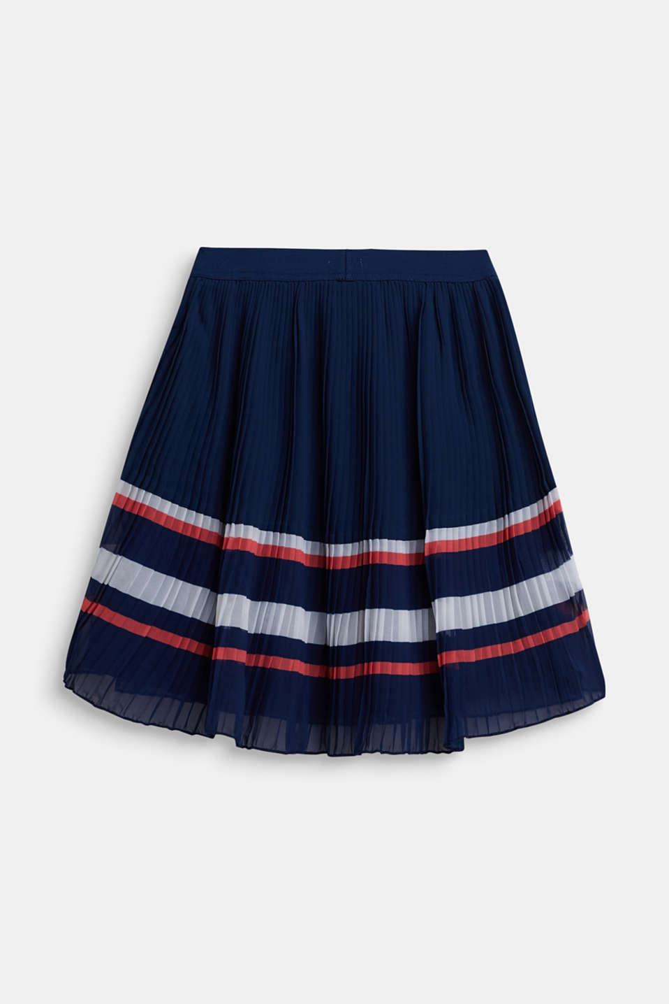 Plissé skirt in chiffon, LCMARINE BLUE, detail image number 1
