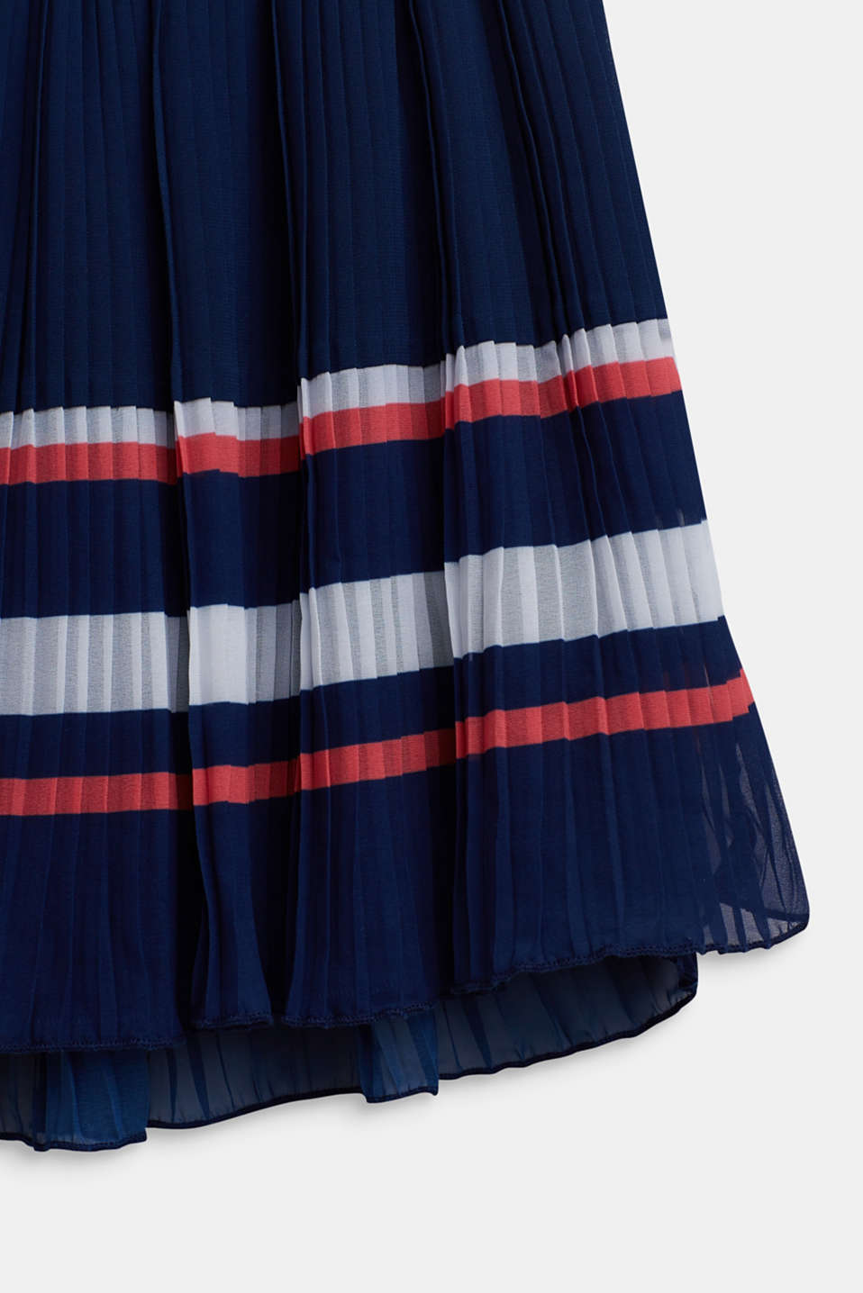 Plissé skirt in chiffon, LCMARINE BLUE, detail image number 2