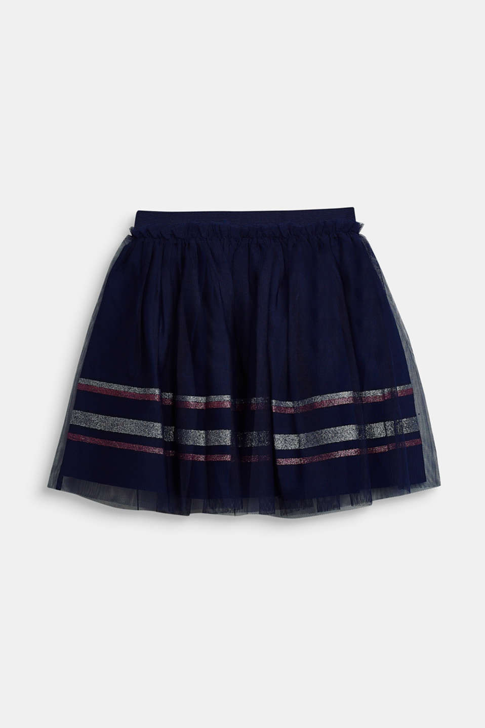 Esprit - Tulle skirt with glitter stripes