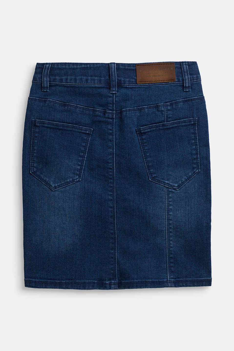 Super stretch denim skirt, LCBRIGHT BLUE DE, detail image number 1