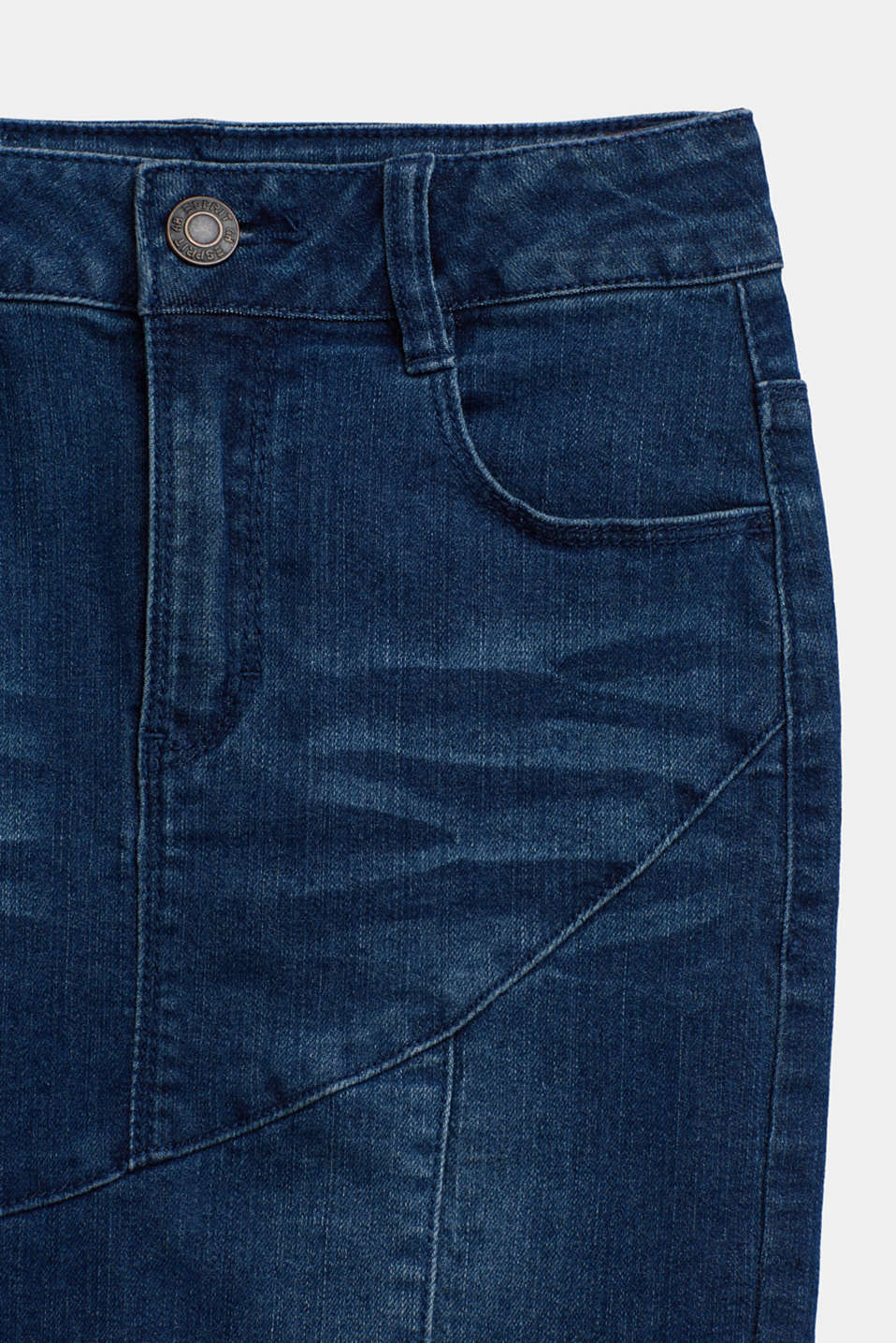 Super stretch denim skirt, LCBRIGHT BLUE DE, detail image number 2