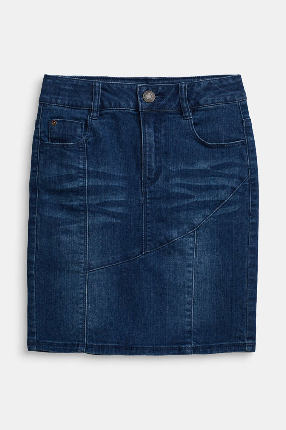 Super stretch denim skirt, LCBRIGHT BLUE DE, detail image number 0