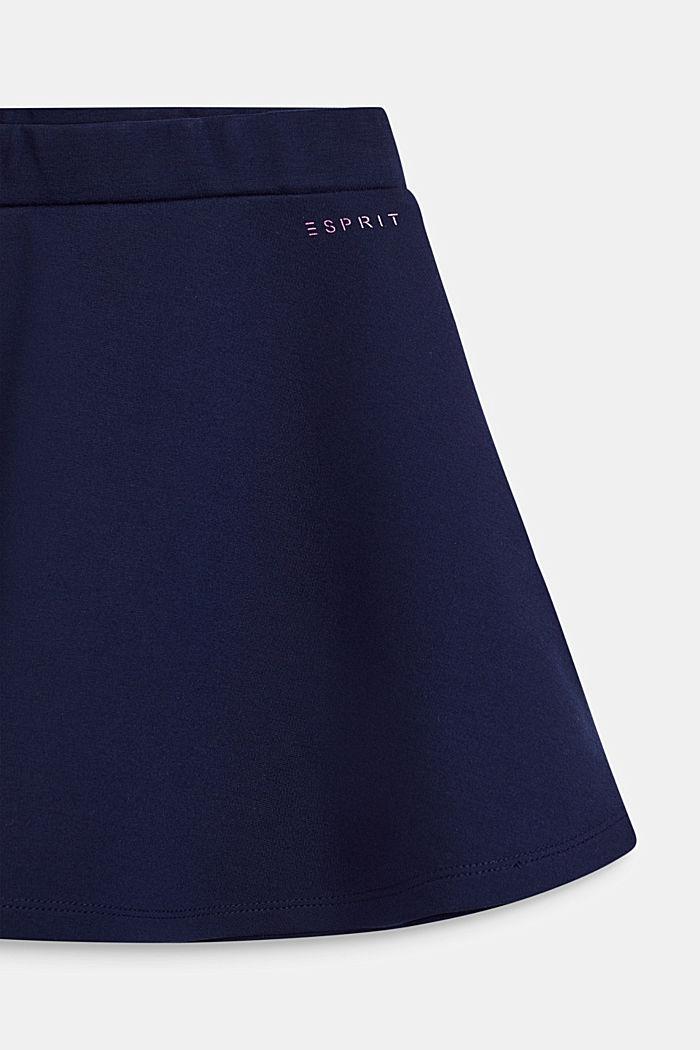 Rok van dichte, elastische jersey, NAVY, detail image number 2