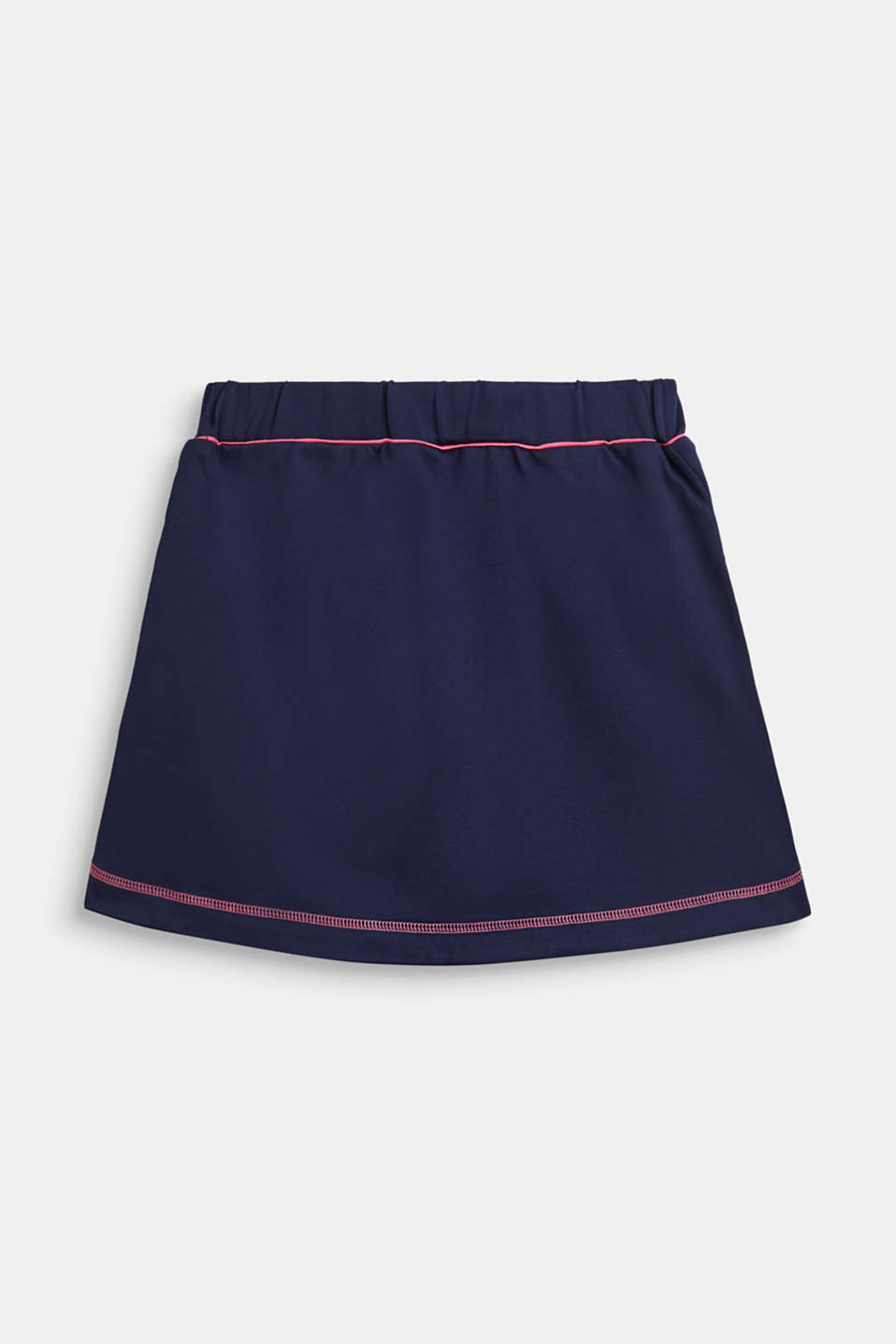 Dense stretch jersey skirt, LCNAVY, detail image number 1
