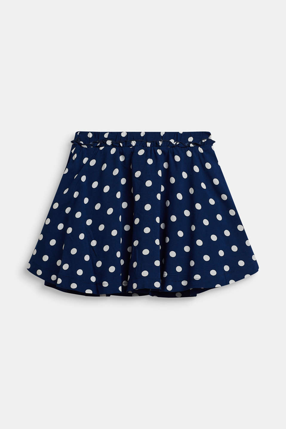 Polka dot skirt with frill, MARINE BLUE, detail image number 1