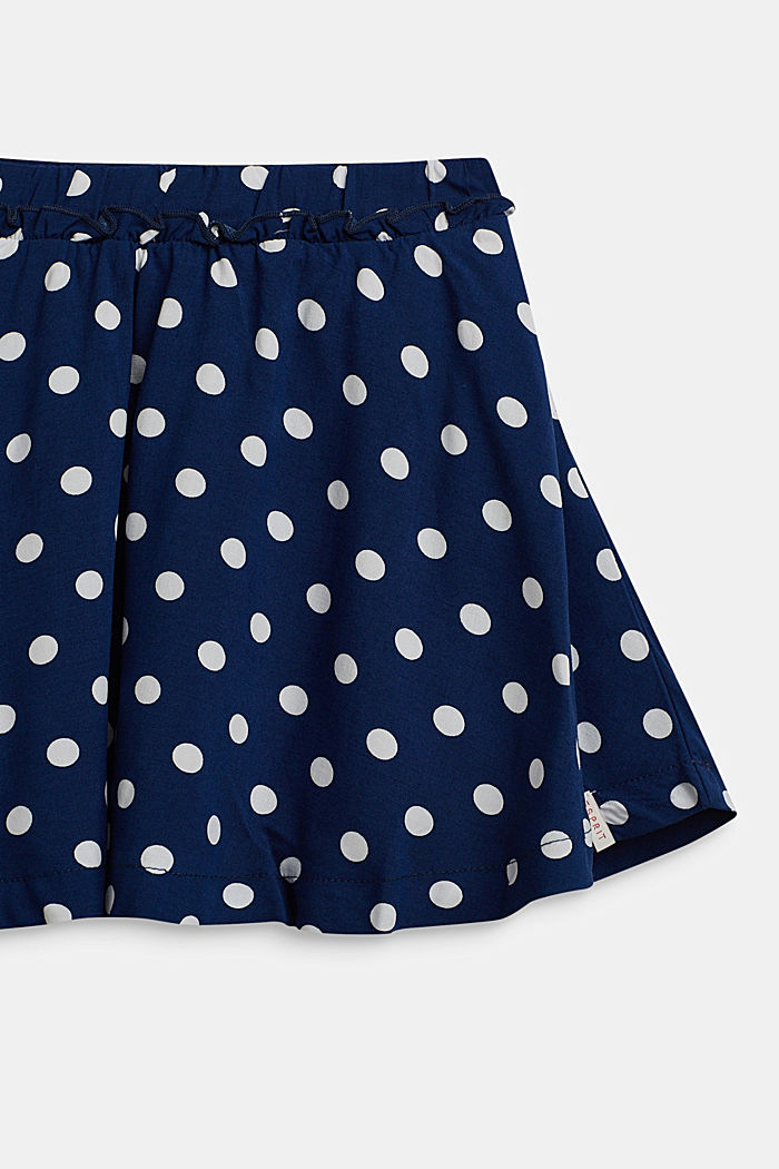 Polka dot skirt with frill, MARINE BLUE, detail image number 2