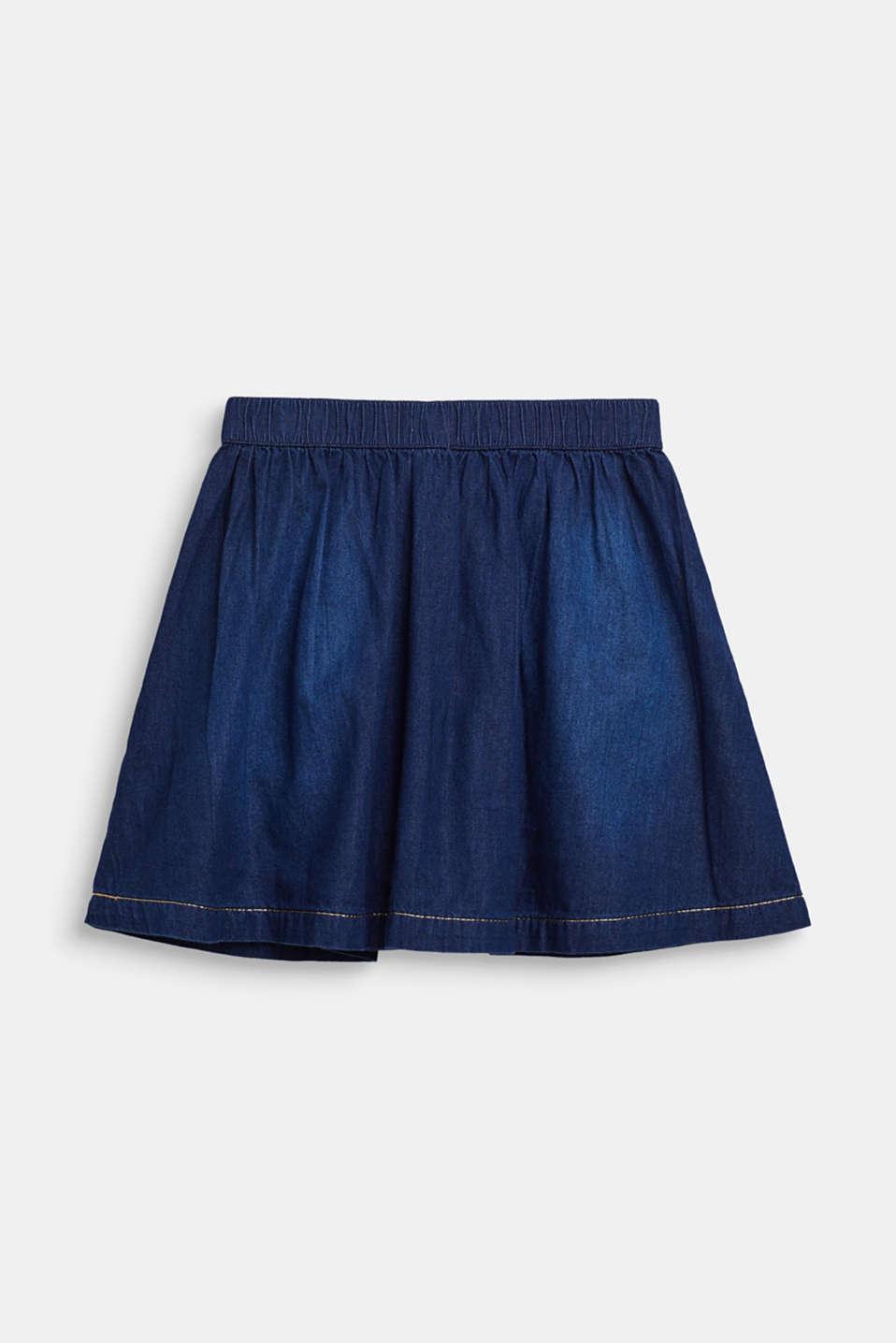 Denim skirt with glittering threads, DARK INDIGO DE, detail image number 1